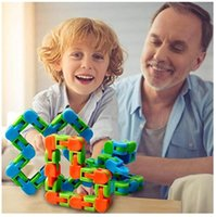 Hot Wacky Tracks Snap e fai clic su Giocattoli di Fidget Giocattoli Snake Puzzle Tangle Fidget Giocattoli per bambini Adulti Party ADHD Stress Relief Tieni le dita occupate