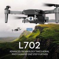 L702 4K الكاميرا المزدوجة FPV البسيطة المبتدئين طائرة بدون طيار كيد لعبة، لوازم الحزب، رحلة المسار، سرعة قابل للتعديل، الارتفاع عقد، لفتة التقاط الصورة، 1800 مللي أمبير بطارية، 3-1