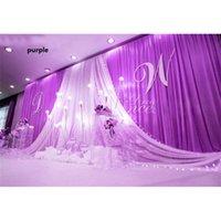 Wedding Party Stage Background drop Celebration Background Satin Curtain Drape Pillar Ceiling Backdrop Marriage decoration Veil WT079