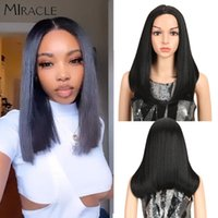 Synthetic Wigs Long BOB Wig For Women Ombre Blonde Hair Middle Part Lace 18 Inch Black Front Cosplay
