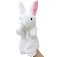دمى اليد للأطفال لطيف الكرتون الحيوان دمية الاطفال قفاز اليد دمية الأرنب أفخم الأرنب الاصبع لعب للأطفال 2021 هدية