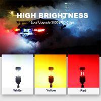 2pcs Auto di alta qualità LED LED Azzurra Super Bright 1156 1157 Bau15s Siganl Light IP67 Impermeabile Adatto per la maggior parte dei modelli