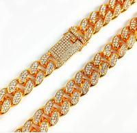 Mens Luxury Iced Out Diamond Fashion Bracelets Bangles High Quality Gold Cuban Link Chain Miami Bracelet Hip Hop