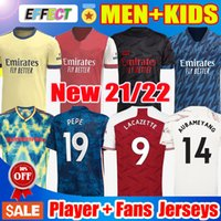 20/21 Arsenal Soccer Jerseys 2020 2021 Uomo Bambini Tifosi Versione giocatore TIERNEY AUBAMEYANG SAKA LACAZETTE OZIL TORREIRA PEPE GUENDOUZI Maglie da calcio