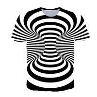 Mens Graphic T Shirt Fashion Estate 3D Digital Printing Digital Style Style Tees Tops Uomo Casual Vortex Series Allentato manica corta T-shirt
