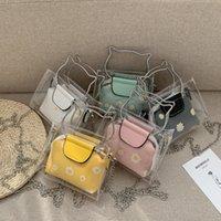 2021 Girls Jelly Bag Ins inshage цепь сумка мода женщина цветочные однократные сумки прозрачности мода цветок мини-кошельки 2 шт. Набор 1354 b3