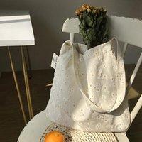 Abendtaschen Frauen Leinwand Schulter geprägte Daisy Design Damen Blumenhandtasche Casual Tote Literary Bücher Tasche Shopping für Mädchen