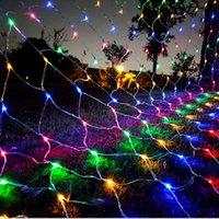 صافي أضواء شبكة 240 المصابيح 3M × 2M سلسلة لعيد الميلاد أشجار الشجيرات عطلة حزب حديقة في الهواء الطلق