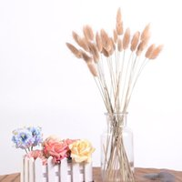 7Pcs Bulrush Natural Dried Small Pampas Grass Artificial Bouquets Use For DIY Home Decoration Wedding Party Flower Arrangements Decorative F