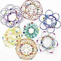 Cambiamenti multipli Mandala Flower Basket Magic Flow Ring Ring Fidget Giocattoli Handmade Iron Loops Iron Loop Filo Stress Reliever Reliever Finger Fun Gioco H33MDRX