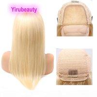 Peruano 613 # Cor 4 * 4 peruca sedosa onda corporal de seda 12-32inch 100% Virgin Human Produtos de cabelo humano quatro por quatro loira peruca