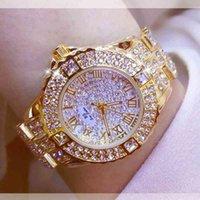 BS Biene Schwester FA08040 Uhr Diamant Frau Armbanduhr Bling Ladi Drs Armband Fall Alloy Quarzuhr