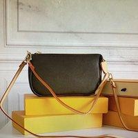M40712 Pochete Accessoires Umhängetasche für Frauen Mode Designer Luxurys Handtaschen Leder Leinwand Taschen Marken Geldbörsen Klassische weibliche Crossbody Tote N41207