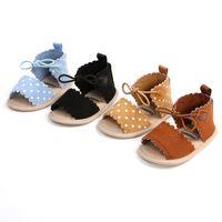 Baby Girls Sandals First Walkers Прекрасный мягкий противоскользящий резиновый индивидуальный младенческий летний мода обувь для обуви