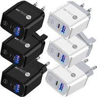 Fast Quick Charge 25W 18W 20W 12W PD USB-C Wall Charger Eu US UK Power Adapter For IPhone 12 13 Mini Pro Samsung LG Android phone