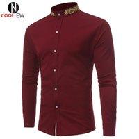 Men's Dress Shirts Suit Shirt For Man Summer Topwear 2021 Fashion Mens Wedding Slim Fit Men Brand Clothing White Black Red Streetwear