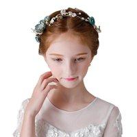 Saç Aksesuarları Peri Çocuk Taç Tiaras İnciler Headdress Kızın Çelenk Küçük Prenses Sanat Test Catwalk Gösterisi Performans