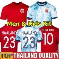20 21 Norwegen Fußball-Trikots 2021 Norueuga Haaland Ödegaard Berge King Nationalmannschaft Fußball Hemd Set Thailand Männer Kinder Kit Uniformen