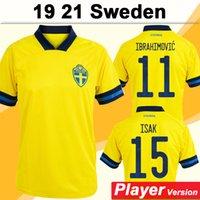 2021 Ibrahimovic Player Версия Футбол Форсберг Ларссон Главная Мужские футболки Швеция Национальная команда Экдаль Исак Униформа