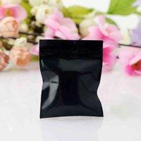 300 pz 4x5cm Blocco Zip nero Poly Riciclabile Mini Plastica Carino Risultatori di gioielli orecchini regalo Borse da imballaggio regalo