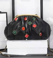 Kvinnor Handväska Koppling Väskor Designer Purse Pärla Dekoration Design Högkvalitet Läder Cloud Shape Lady Handväskor Klipppaket