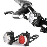 Bike Lights USB Set di luce ricaricabile Super Bright Front Fronte e Free Rear LED Bicycle 650mAh Batteria al litio 4 modalità