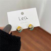 Orecchini quadrati di cristallo del metallo orecchini della Corea del Sud della Corea Retro della moda della geometria della moda della donna degli accessori del regalo della donna all'ingrosso