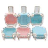 Makeup For Eyelash Packaging Mini Suitcase Luggage Box Empty Eyelashes Case Make Up Lashes Boxes