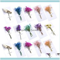 Event Festive Home & Garden20Pcs Creative Thank You Dry Flower Greeting Cards Blessing Paper Festival Gifts Party Supplies (Assorted Color)