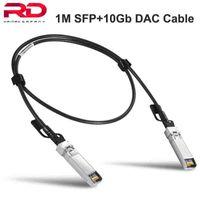 Équipement de fibre optique 1M SFP + 10 Go Câble DAC Cuivre Twinax Direct Attachez Direct AWG30 SFP Module pour Mikrotik Huawei TP-Link Ubiquiti Zyxel