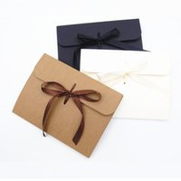 24x18x0.7cm 24x18x1.3cm Ribbon Kraft paper Envelope bag Handkerchief Silk scarf packing boxes Envelope gift box LX3838