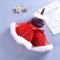 Skirts Pudcoco Christmas Toddler Baby Girl Headband 2pcs Xmas Festival Tutu Lace Fur Mini Outfit 0-8Y Clothes Costume