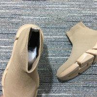 2021 مصمم الرجال النساء منصة الأحذية سرعة المدرب جورب الأحذية القابس رجالي المدربين التمهيد الأزياء عارضة الأسود إمرأة حذاء أحمر هدية مع مربع