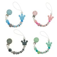 Safe Silicon Bead Pacifier Chain Clips Teethers for Baby Feeding Accessories Infant Pacifier Holders Soother Graciouis Toys