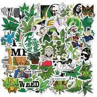50 SPOOF-Zeichen Blätter Rauchen Graffiti Aufkleber Hautprotektoren Dekorativer Koffer Notebook Wasserdichte Wechselkombination Computer Zubehör