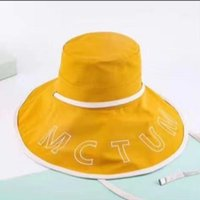 Hats Bucket Hat 2021 Spring and Autumn Female Age Reducing Fisherman's Summer Sunscreen Flat Top Big Brim Letter{category}
