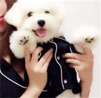 Pequeño perro abrigo abrigo cachorro pijama pijamas negro rosa niñas caniche bichon peluche ropa algodón niño bulldog softfeeling camisas invierno 528 S2