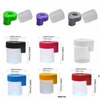 LED-Aufbewahrungskasten-Lupe-Vergrößerungs-Stash-Gläser Kunststoff-Glas-Ansicht-Container 155ml Vakuum Magglas-Seal-Gehäuse Trockener Herb-Flasche DHF6240