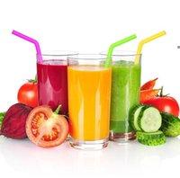 Bunte Lebensmittelqualität flexible Silikon-Strohhalme gerade gebogene gekrümmte Strohhalme trinken wiederverwendbare Bar-Werkzeuge Getränk NHA5101