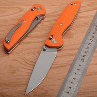DC Design DC-A6 Широгоров складной нож Real 8Cr13 Blade Blade PA90S Flipper Orange G10 Ручка для кемпинга Тактическая утилита EDC Инструменты Ножи