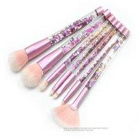 Makeup Brushes 7-piece Transparent Diamond Set Eye Shadow Blush Foundation Powder Cosmetic