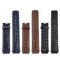 Watch Bands For Huawei B3 B6 Crocodile Leather Strap 16mm Black Brown Sport Business Genuine Chain