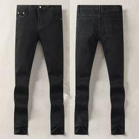 Mens Jeans Designer de luxe automne Mode Design Noir Couleur Tissu Stretch Straight Pantalons Recyclé Eau Simple Généreux Casual Business Business Style Taille 29-38