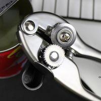 Seguridad blanco níquel zinc aleación de aleación latas abrelatas corte lateral manual de mano puede tarros lata abrelatas de botella herramientas de cocina profesional DHF7365