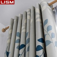 Curtain LISM Modern Printed Blackout s For Living Room Bedroom Leaves Print Window Treatment Darkening Drapes kitchen Panel 210608