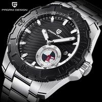 디자인 남자 시계 패션 자동 기계 스테인레스 스틸 방수 비즈니스 스포츠 손목 시계 PD 1636 손목 시계