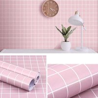 Wallpapers Waterproof Wallpaper Black And White Lattice PVC Self-adhesive Wall Sticker Kitchen Tile Bathroom Living Room Bedroom Home Decor