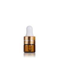 NEWMini Amber glass Essential Oil Perfume Bottles 1ml 2ml 3ml 5ml DIY sample dropper bottle with liquid reagent pipette EWB6968