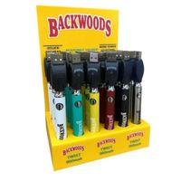 Çerezler Backwoods Hukuk Büküm Önceden VV Pil 900 mAh Alt Gerilim Ayarlanabilir USB Şarj Vape Kalem 30 adet ile Ekran Kutusu CE4