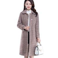 Women's Wool & Blends Womens High-end Long Warm Woolen Coats Winter Thick Imitation Mink Fleece Coat Cold-Proo Parker Overcoat Casual Trench